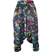 Gheri Men's Light Cotton Drop Crotch Ninja Aladdin Genie Harem Pants Trousers