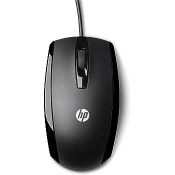 HP X500 (E5E76AA) Optische Maus mit Kabel (3 Tasten, Scroll-Rad mit Klickfunktion, USB-Anschluss) schwarz