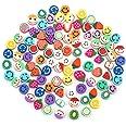 SAVITA 100st 10mm Smiley Handgemaakte Kralen Fruit Kralen Gemengde Kleuren Smiley Polymeer Klei Kralen Polymeer Klei Kralen v