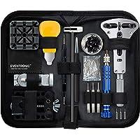Eventronic Tool Kit Professionale di Riparazione Orologi, Attrezzi di Apertura Orologi e kit di Riparazione Orologio e…