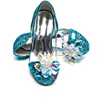ELSA & ANNA Girls UK Princess Snow Queen Wedged Party Shoes Sandals SIL15-SH