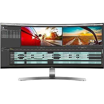 LG 34UC98 34 inch Curved Ultrawide Height Adjustable IPS Monitor (3440 x 1440, 2x HDMI, DisplayPort, Thunderbolt 2, 300 cd/m2, 5ms, AMD Freesync)