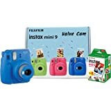 Fujifilm Instax Mini 9 Value Cam Camera with 20 Film Shot Free (Cobalt Blue)