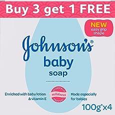 Johnson's Baby Soap (100g, Buy 3 Get 1 Free)