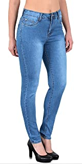48419a84a55f by-tex Jean Femme Skinny Pantalon Taille Haute ou Taille Basse Femmes  Stretch Jeans