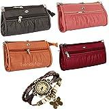 TrendyAge Women's Handbag (Set of 4) (B2B Bags_Multicolored)