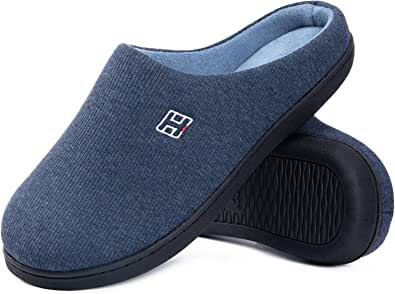 Men's & Ladies' Classic Memory Foam Plush House Slippers, Spring Summer Breathable Indoor Outdoor Shoes