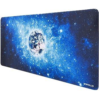 Anpollo Gaming und Office Mauspad 900 x 400mm XXL Mousepad Tischunterlage für PC, Computer und Laptop, für Gaming Maus und Tastatur