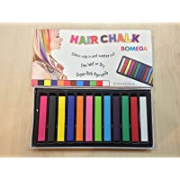 KABEER ART Hair Chalk 12 Assorted Colors Temporary Hair Color