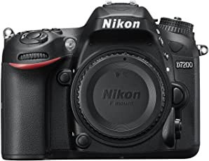 Nikon D7200 24.2MP Digital SLR Camera Body Only (Black) with Card, Camera Bag