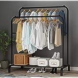 Lukzer 1PC Garment Rack Multipurpose Clothes Rack with Bottom Shelf / Coat Jacket Hanger for Home Bedroom Storage Organizer U