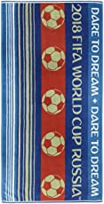 Spaces FIFA 450 GSM Cotton Bath Towel - Blue and White