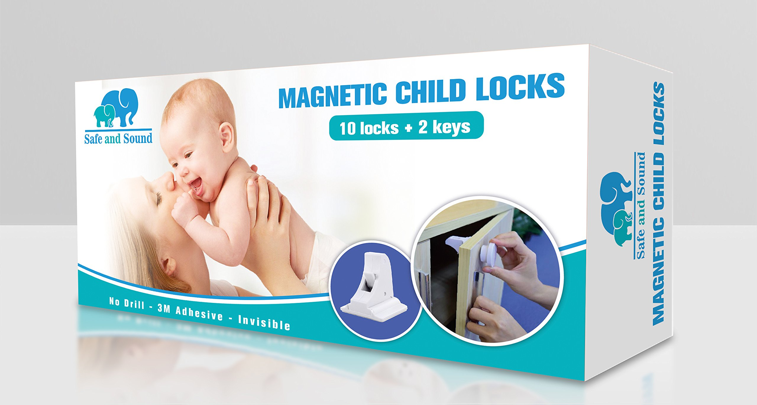 Magnetic Baby Safety Child Proof Locks Kitchen Cupboards