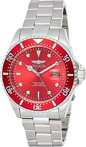 Invicta Pro Diver Orologio Uomo Quarzo, 43mm, Rosso, 22048
