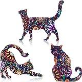 WILLBOND 9 Piezas Broches de Gato de Acrílico de San Valentín Pin de Solapa de Dibujo Animal Lindo Accesorio de Insignias