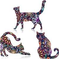 WILLBOND 9 Pezzi Spilla di Gatto in Acrilico Valentine Modello Animale Carino Accessorio per Badge Pin Spilla