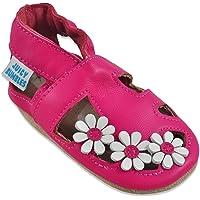 Sandales Bébé Cuir Souple - Chaussons Cuir Bébé - Chaussures Bebe Fille - Chaussures Enfant Garçon - Spartiates Bébé 0-6…