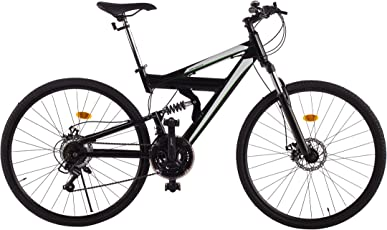 Ultrasport Fully Alu Mountainbike 28 Zoll, Full Suspension, 21-Gang Shimano-Kettenschaltung, Einstellbare Federgabel, Mechanische Scheibenbremsen