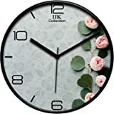 IIK COLLECTION Plastic Designer Analogue Round Wall Clock with Glass for Home/Kitchen/Bed Room/Office (Multicolour, 28 x…