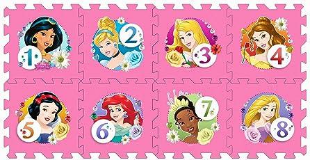 Stamp tp880001 Puzzle di Pavimento–Tappeto Schiuma–Marelle–Princess–8pezzi