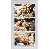 18 x 35 cm Cornice Multipla per 3 Foto 10 x 15 cm, Bianco