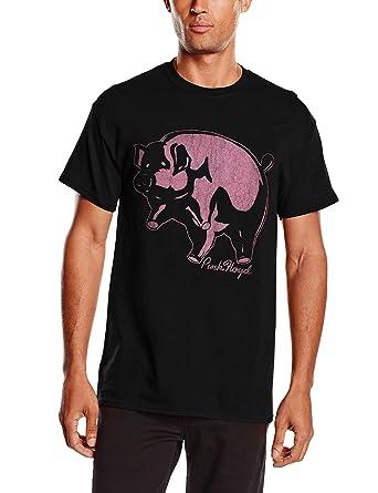 Pink Floyd Herren T-Shirt Pig, Schwarz (Black), S