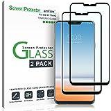 LG G7 ThinQ Displayschutzfolie, amFilm Vollständige Abdeckung Panzerglas (Gehärtetem Glas) Schutzfolie für LG G7 ThinQ (2 Stück, Schwarz)