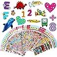 Vicloon 3D-Stickers voor Kinderen Gezwollen Stickers 1000+ Kinderstickers 40 Verschillende Bladen voor Het Belonen van Gesche