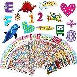Vicloon Autocollants pour Enfant 40 Feuilles 1000+ Pack, de variétés d'autocollants Puffy ,Autocollants Puffy 3D Comprenant d