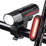 Cycleafer® Fietsverlichting set, USB oplaadbare fietsverlichting, Super KRACHTIGE lumen, Fietslichten set, LED fietsverlichti