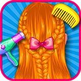 Tresses de cheveux salon de coiffure pour les filles : Devenez le meilleur coiffeur! Jeux éducatifs pour enfants - GRATUIT