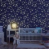 Homery Sternenhimmel 400 Leuchtsterne selbstklebend mit starker Leuchtkraft, fluoreszierende Leuchtsterne Wandtattoo & Wandde