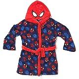 Bata Spiderman de Estar por Casa para Niños - Bata Spider-Man Marvel con Capucha