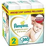 Pampers Premium Care, Rozmiar 2, 240 Pieluszki, Najdelikatniejszy Komfort I Najlepsza Ochrona Skóry Oferowane Przez Pampers,