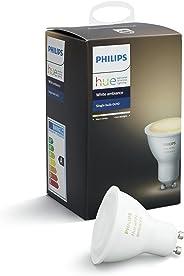 Philips Hue White Ambiance GU10 LED Spot Erweiterung, dimmbar, alle Weißschattierungen,,steuerbar via App, kompatibel mit Am