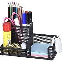 Comix Organiseur de bureau en métal grillagé avec Pot à Stylo, Range Stylo Bureau, Porte Crayon Bureau, Rangement…