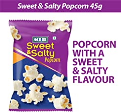 ACT II Ready to Eat Sweet and Salty Popcorn, 45g