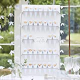 VINFUTUR 50pcs C/ône de confettis de Mariage en Papier Kraft R/étro 1pcs Support Confettis Plateau pour P/étale Bonbons F/ête de Mariage