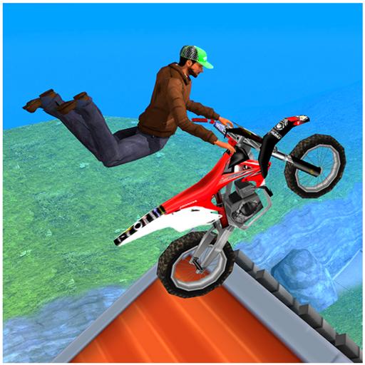 Extreme Motorcycle Stunt tricks game 2018 : City Motocross BMX Fahrer Fieber 3D-Simulator-Spiele freie Eile Fahrer Drag Hill Steig Trick Versuche Flugsprung 2019 (Fahrer Kawasaki)