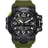Orologio da polso digitale da uomo, stile militare, analogico, digitale, cronografo, quadrante grande, 56 mm, impermeabile, c