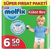Molfix 3D Külot Bez Extra Large (6) Beden, Super Fırsat Paketi 50 Adet