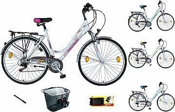 WBT121 Fahrrad 21 Gang Shimano Kettenschaltung Federgabel Korb Werkzeug