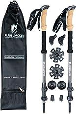 Alpin Loacker Carbon Pro Kork Wanderstöcke 3 Teilig Teleskop Trekkingstöcke - Ultra leicht, stabil, für Das Ganze Jahr! Für Herren und Damen