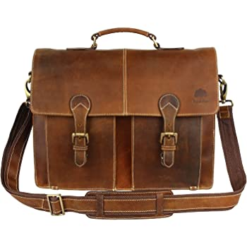 d90001a29b Leather Shoulder-Briefcase Messenger Bag – Men s Handmade 16 inch Laptop -Satchel