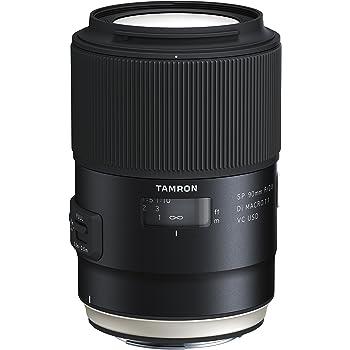 Tamron SP F/2.8 Di MACRO 1:1 VC USD Objectif 90 mm pour Canon Appareil photo Noir
