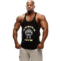 MUSCLE GYM Men's Stringer Tank Tops Workout Sleeveless Vest Y Back Stringer/Racerback Vest Dry-Cool