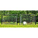 POWERSHOT Fotbollsmål trädgård 90 x 60 cm – uppsättning av 2 – inklusive nät, plug-in system och markankare – fotbollsmål min