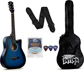 Intern INT-38C Acoustic Guitar Kit, Blue