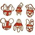 Set di 6 Tagliabiscotti formine a forma di personaggi Disney (Topolino, Minnie, Paperino, Paperina, Pippo e Pluto)
