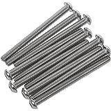 D2D vis /à t/ête cylindrique PU: 4 pi/èces Vis /à t/ête plate M8 x 60 mm avec six pans creux ISO 7380-1 en acier inoxydable A2 V2A